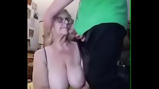 Granny gets face fucked
