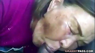 Asian Granny Sucks Black..