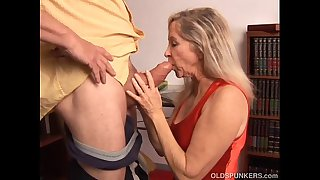 Beautiful mature blonde has..
