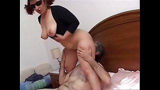 Mature horny gets her..