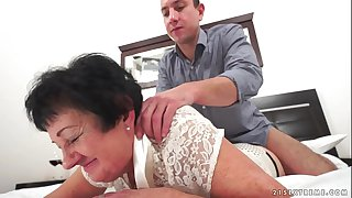 Kinky grandma fucked after..