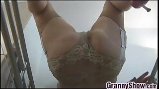 Granny Shows Off Her Pussy..
