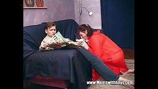 Stepmom Teaches Stepson..