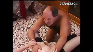 Mature man shags a young..