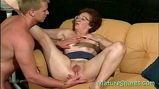 Licking a 70plus vagina