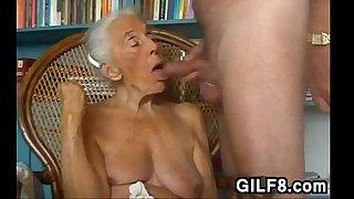 Naughty Grandma Giving A..