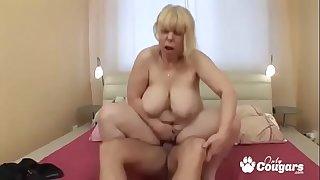 Fat Old Granny Makes A Dick..