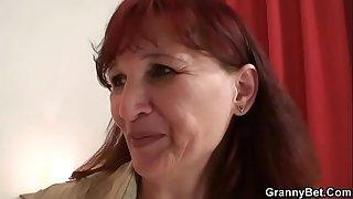 Redhead granny getting lured..