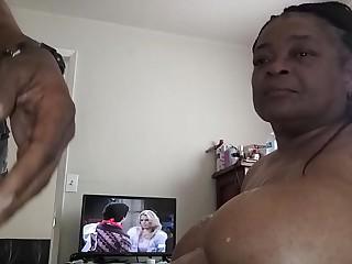 Granny face fuck