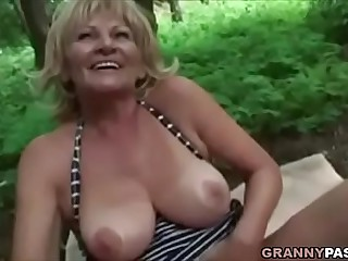 Busty Granny Gets Fucked In..
