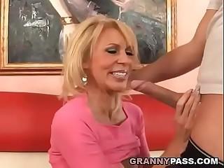 Busty Cougar Fucks Big Young..