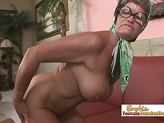 Hot granny is always in the..
