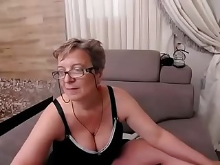Busty granny being naughty -..