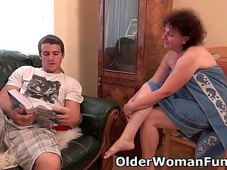 Chubby granny gets drilled..
