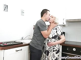 Hairy granny plowed after..
