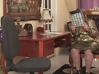 Horny granny gets sexual..