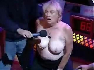 Granny have orgasm in porno..