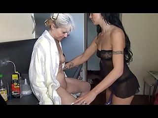 Old Lesbian Granny fucking..