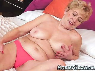 Railed granny cum dumped