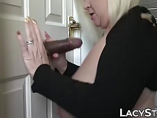 Granny takes big cock up in..