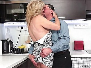 GILF seduced by young hard..