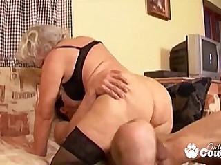 Granny whore degluting and..