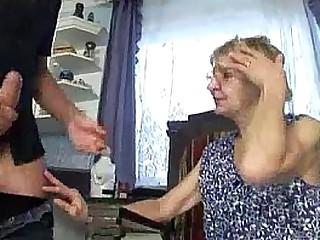 Granny fucks with her son..