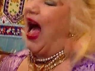 Wild chubby granny stuffed..