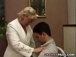 Granny fucks student. After..