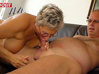 Old nasty granny suck out..