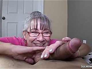 Horny Granny Sucks A Young..