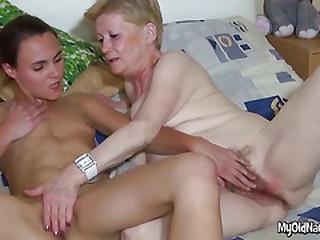 Lesbian Granny Has Hairy..