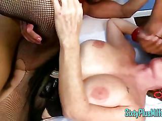 MILF Granny Sucks While Fucked