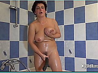 Big breasted mature woman..