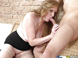 Kinky mature Angelica doing..