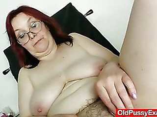 Hairy grandma enema during a..