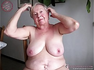 Extremely old granny showing..