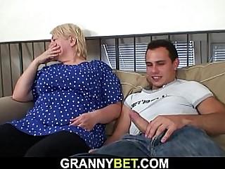 Big tits granny pleases..
