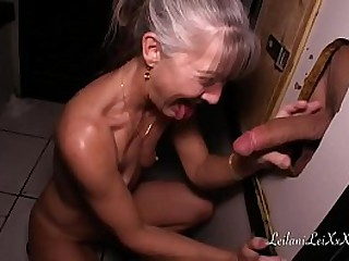 Granny sucking cock from..