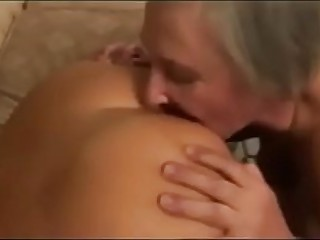 Granny lick pussy and ass of..