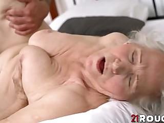 Busty granny hammerd..