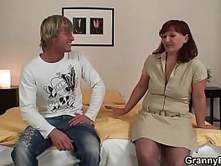 Fucking hairy redhead granny