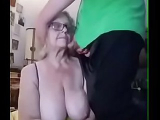 Granny with big boobs takes..
