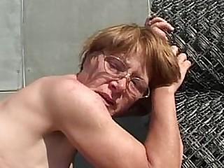Granny In Glasses Face..