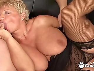 Chubby mature blondie..
