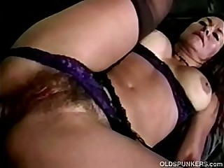 Fit Hairy Granny Threesome