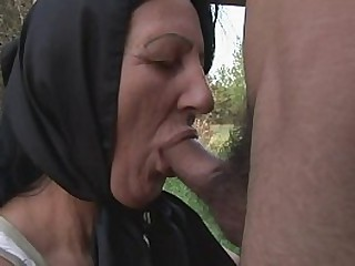 A naughty granny alone in..