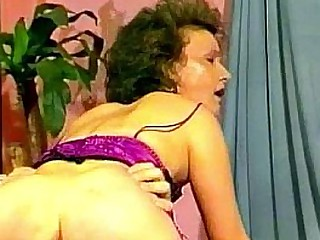 German Granny Does Anal