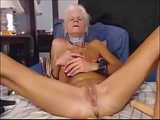 Very hot skinny granny..