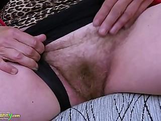 OldNannY Hairy Granny Pussy..